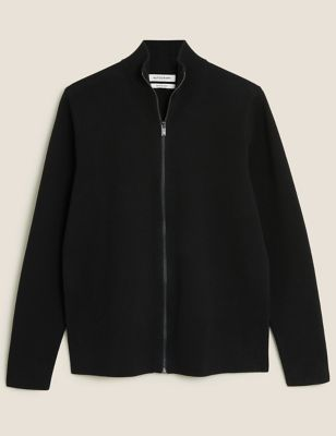 Cotton Zip Up Knitted Jacket