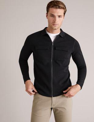 Cotton Zip Up Cardigan
