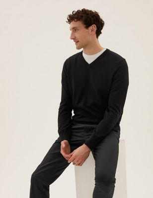 Pure Cotton Two Pack V Neck Jumper