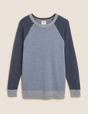 Pure Cotton Crew Neck Knitted Jumper