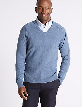 Pure Lambswool Textured Jumper, LIGHT BLUE MIX, catlanding