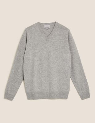 Pure Extra Fine Lambswool V-Neck Jumper