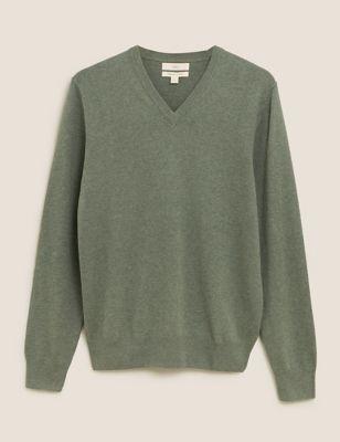 Pure Cotton V-Neck Jumper