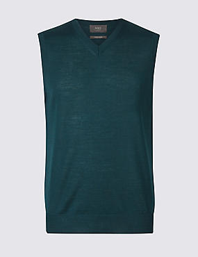 Merino Wool Blend Slipover Jumper, TEAL, catlanding