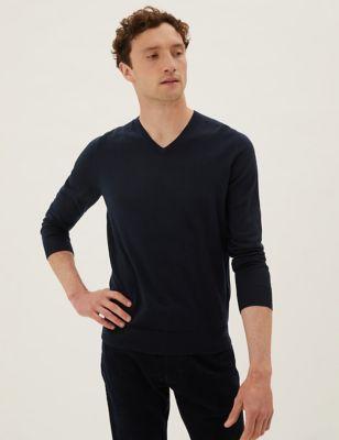 Pure Extra Fine Merino V-Neck Jumper