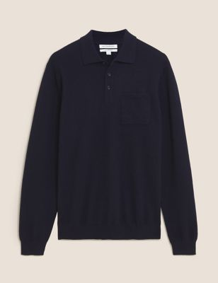 Pure Cashmere Knitted Polo Shirt