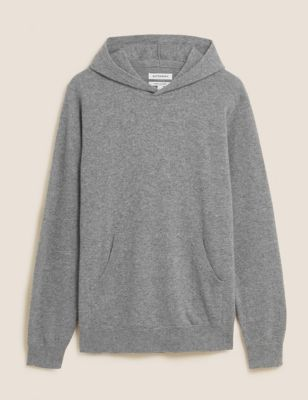 Pure Cashmere Knitted Hoodie