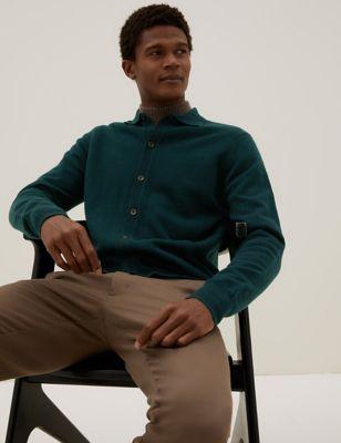 Pure Cashmere Button Through Polo