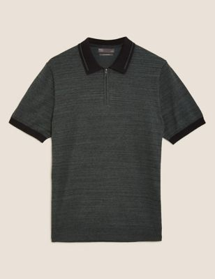 Cotton Short Sleeve Knitted Polo Shirt