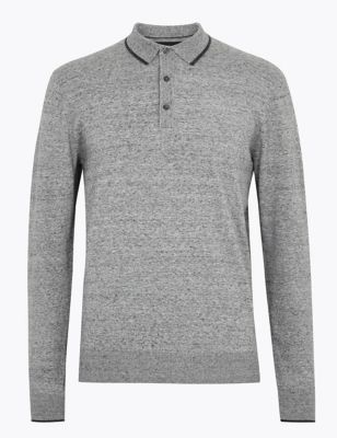 Cotton Knitted Polo Shirt