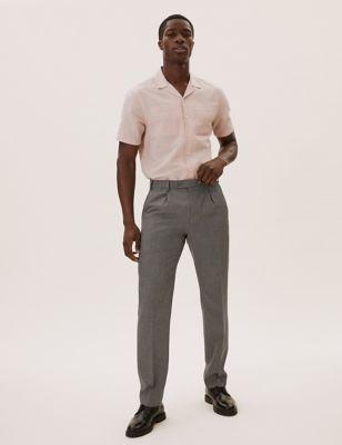Regular Fit Single Pleat Trousers