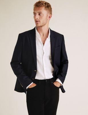 Big & Tall Regular Fit Italian Wool Blazer