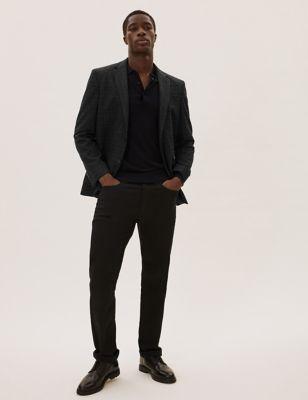 Regular Fit Wool Checked Blazer