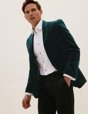 Regular Fit Cotton Velvet Blazer