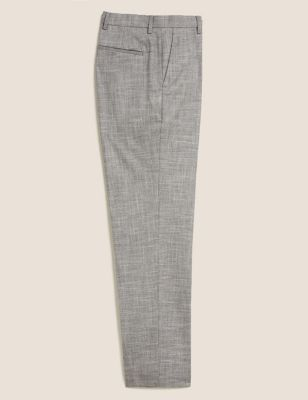 Regular Fit Textured Stretch Trousers