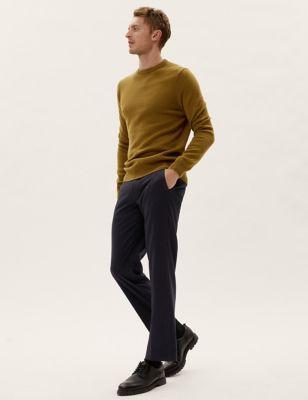 Regular Fit Twill Stretch Trousers