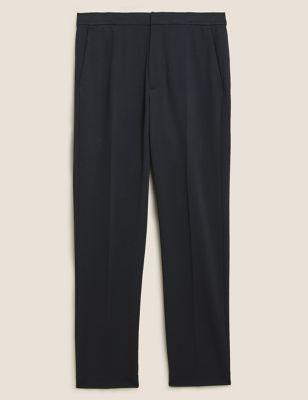 Regular Fit Elasticated Trousers