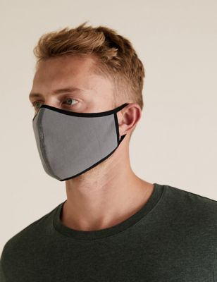 5 Pack Reusable Jersey 3-Ply Face Coverings