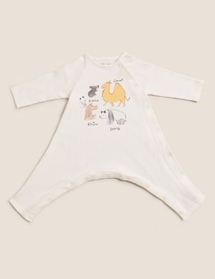 Hip Dysplasia Pure Cotton Animal All in One (0lbs-12 Mths)