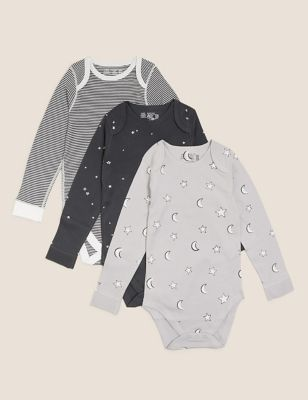 3pk Adaptive Pure Cotton Printed Bodysuits (3-16 Yrs)