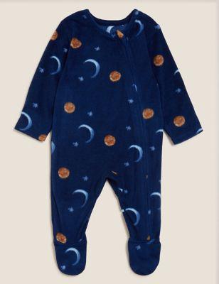Fleece Solar Print Sleepsuit (0-3 Yrs)