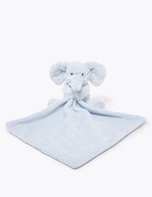 Vintage Blue Elephant Comforter