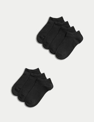 7pk of Cotton Trainer Liner Socks
