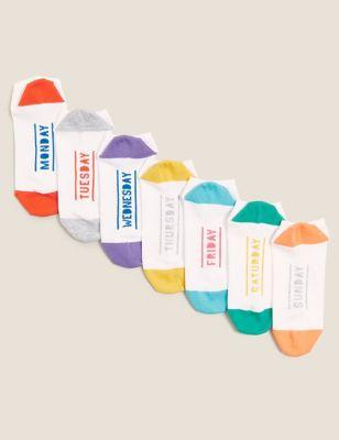 7pk Cotton Trainer Liner Socks