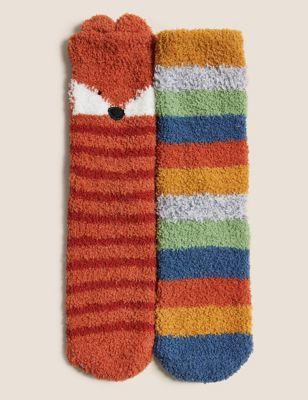 2pk Animal Socks