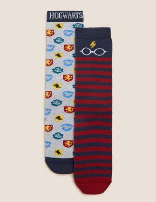 2pk Cotton Harry Potter™ Slipper Socks