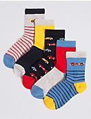 5 Pairs of Socks with Freshfeet™ (1-14 Years)