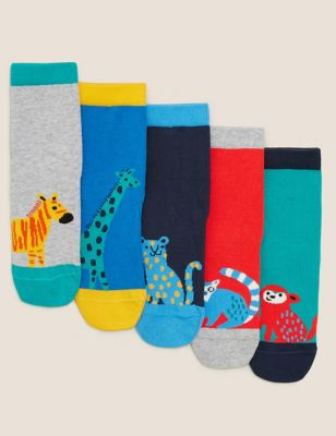 5pk Cotton Animal Socks