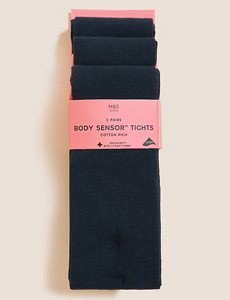 3 Pairs of School Tights (4-14 Years)