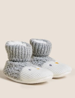 Penguin Knitted Booties (0-24 Mths)