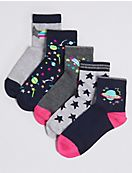 5 Pairs of Space Socks with Freshfeet™