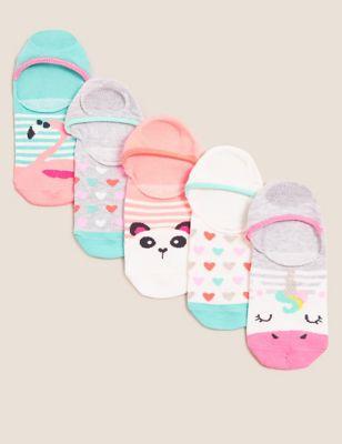 5pk Cotton Animal Trainer Liner Socks
