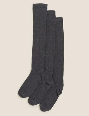 3pk Cotton Over the Knee Socks
