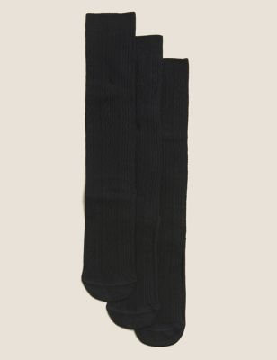 3pk of Cable Knee High Socks