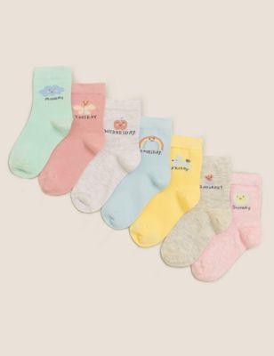 7pk Cotton Days Of The Week Socks