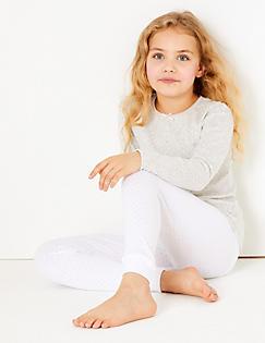T71/0350T: Cotton Blend Cuffed Hem Leggings (18 Months - 16 Years)