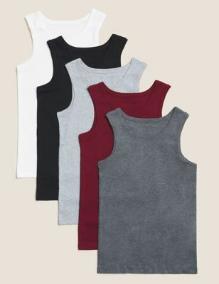 5 Pack Cotton Vests (2-16 Yrs)