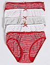 5 Pack Bikini Knickers (6 -16 Years)