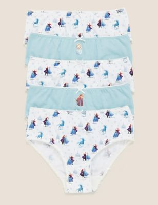 5pk Pure Cotton Disney Frozen™ Classic Knickers (2-12 Yrs)