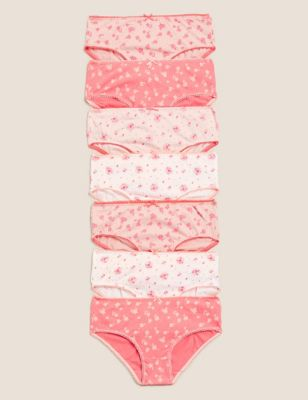 7pk Pure Cotton Ditsy Floral Knickers (2-16 Years)