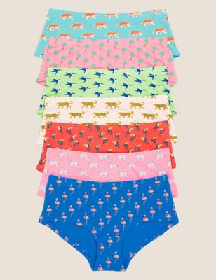 7pk Cotton with Stretch Animal Shorts (2-16 Yrs)