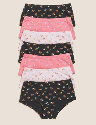 7pk Cotton with Stretch Floral Shorts (2-16 Yrs)