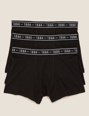 3pk Cotton with Lycra® Trunks (6-16 Yrs)