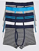 5 Pack Cotton Trunks with Lycra (18 Months - 16 Years)