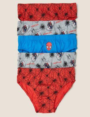 5pk Pure Cotton Spider-Man™ Briefs (2-8 Yrs)