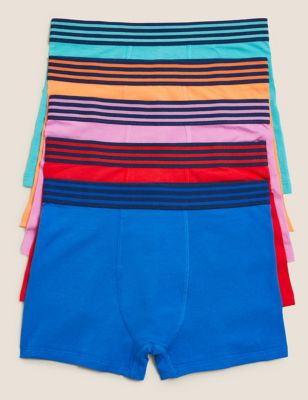 5pk Cotton with Stretch Bright Trunks (2-16 Yrs)